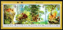 Corée Nord DPR Korea 3252/55 Faune, Tigre, Ours, Aigle, Sanglier, Tortue, Singe - Sellos