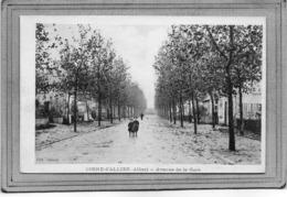 CPA - COSNE-d'ALLIER (03) - Aspect De L'avenue De La Gare En 1918 - Altri Comuni