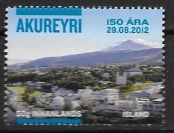 Islande 2012, N°1285A Neuf 150 Ans D'Akureyri Rectifié (29.08.2012) - Neufs