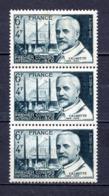 FRANCE LOT DE 3 TIMBRES DE 1948 N 814 NEUF ** 1 ER CHOIX - Unused Stamps