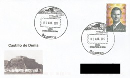 SPAIN. POSTMARK DENIA CASTLE. 2017 - Marcofilia - EMA ( Maquina De Huellas A Franquear)