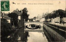 CPA COSNE - Bords Du NOHAIN Et Pont De La Rue St-Agnan (456652) - Cosne Cours Sur Loire