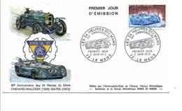 FDC 1973 CINQUANTENAIRE DES 24 HEURES DU MANS - 1970-1979