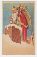 AC155 - ILLUSTRATION SANTA CLAUS - Saint Nicolas - Père Noël - Jouets - Poupée - Cheminée - Santa Claus