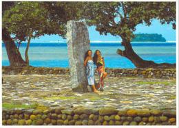 Polynésie Française- Le Marae Taputapuatea à RAIATEA (vahiné Vahinés) (photoTeva Sylvain Tahiti 1156)@*PRIX  FIXE - Polynésie Française