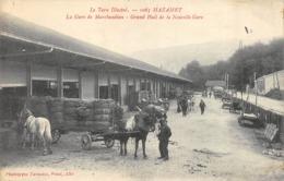 CPA 81 MAZAMET LA GARE DE MARCHANDISES GRAND HALLE DE LA NOUVELLE GARE - Mazamet