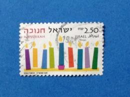1996 ISRAELE ISRAEL HANUKKAH FESTIVAL 2.50 FRANCOBOLLO USATO STAMP USED - Usati (senza Tab)