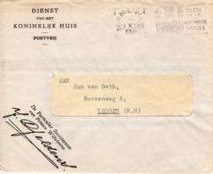 3 X 1955 Dienstbrief Koninklijk Huis Naar Bergen Met Bedankbrief Namens Prinses Wilhelmina - Period 1949-1980 (Juliana)
