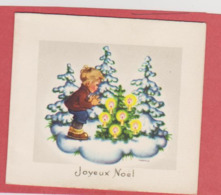 898 - JOYEUX NOEL ENFANT SAPINS BOUGIE NEIGE . ILLUSTRATEUR NIKO - Other
