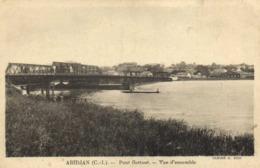 ABIDJAN   (Cote D'Ivoire) Pont Fmotant Vue D'ensemble  Recto Verso - Ivory Coast