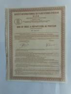 SIPH Bon De Repartition ETUDES Et EXPLOITATIONS MINIERES De L'INDOCHINE 1928 VIETNAM ?????? LAOS - Asie