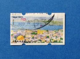 1996 ISRAELE ISRAEL HAIFA ATM 0.30 FRANCOBOLLO AUTOMATICO USATO STAMP USED - Usati (senza Tab)