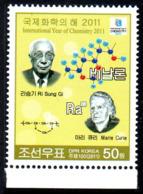 Corée Nord DPR Korea 4069 Chimie Prix Nobel Marie Curie - Scheikunde
