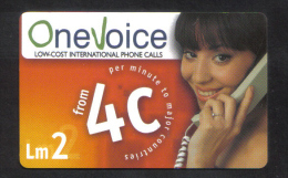 MALTA - ONE VOICE PHONECARD  LM2 USED - Malta