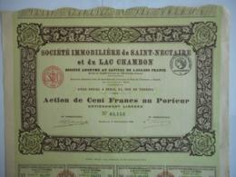 Immobiliere De SAINT NECTAIRE Et Du LAC CHAMBON 1922  PUY De DOME            Imprimerie RICHARD - Autres