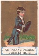 Chromo Au Franc Picard à Gisors Eure 40 Grande Rue Du Bourg Lecaillez Gueudet Cravates Casquettes Cravate Casquette - Other