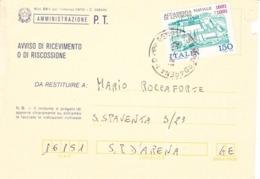 29/5/1981  RICEVUTA  DI  RITORNO -vedi - - 6. 1946-.. Repubblica