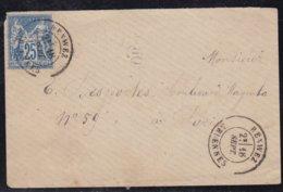 France, Ardennes - Càd 18 De Renvez ( Sans L'année) Sur Enveloppe De 1877 - 1877-1920: Période Semi Moderne