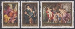 Liechtenstein 06.09.1976 Mi # 655-57, Peter Paul Rubens 400th Anniversary MNH OG - Nuovi