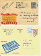 2 X PUBLIBEL  DELACRE Biscuit Nr. 573 De 1944  +  RIZLA Nr. 2332N - Stamped Stationery