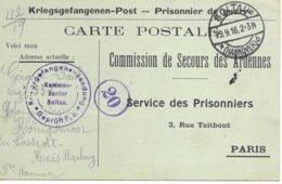 Ardennes  Beffu  Gerard Paul  Soltau   Prisonnier - Poststempel (Briefe)
