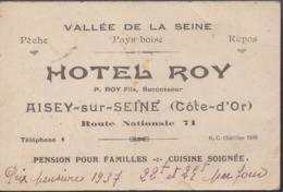 """AISEY-SUR-SEINE """"21""""__CARTE MULTI VUES //HOTEL ROY ET AUTRES (theme) - Hoteles & Restaurantes"""