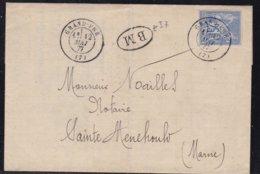 """France, Ardennes - Càd 17 De Grand Pré Avec """"BM"""" Sur LAC De 1877 - Indice 7+ - 1877-1920: Période Semi Moderne"""