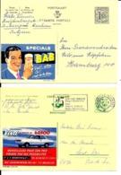 2 X PUBLIBEL  SPECIALE SAS Bière Nr.  1563  +  VAUXHALL VIVA  Nr. 2433 FN - Stamped Stationery