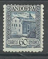 ANDORRA CORREO ESPAÑOL  BONITO SELLO Nº 40 SIN FIJASELLOS (S.1.C.08.18) - Unused Stamps