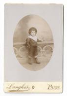 Enfant Costume Marin    Photo  LANGLOIS  Paris    11 X 16.5 Cm     Port France 1,80€ - Alte (vor 1900)