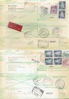 2 International Paketkarte Mit Der Bahn-RFA Kirchheim78 Und Borken Nach Kortrijk Et Heule Belgien - Siehe Beschreibung - [7] República Federal