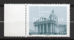 Timbres France N° 4000 Neuf ** Les Justes De France Bord De Feuille - Francia