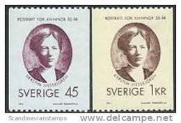 ZWEDEN 1971 Vrouwenkiesrecht Serie PF-MNH - Suecia
