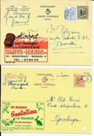 2 X PUBLIBEL  SANTALINA De Redder - Le Sauveur  Nr.  2049  +  CORDERIE Smits-Henin   Nr. 1630 - Stamped Stationery
