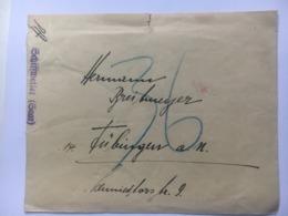 SAAR Early Cover With Schiffweiler Cachet - 1920-35 Saargebiet – Abstimmungsgebiet