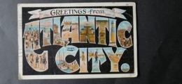 UNITED STATE EE.UU ÉTATS-UNIS US USA POSTCARD ATLANTIC CITY $$8 - Atlantic City