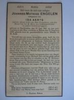 Doodsprentje Joannes-Mathias Engelen Op-Grimbie 1861 Rekem 1939 Lid Derde Orde Echtg Ida Aerts - Santini