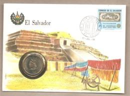 El Salvador - Busta FDC Commemorativa Con Moneta Da 1 Colon - 1984 - El Salvador