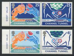Gd Bretagne 1994 N° 1758/1761 ** Neufs  MNH Superbes C 8 € Inauguration Tunnel Manche Lion Coq Mains Cocardes - Booklets