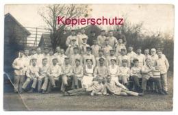 Soldaten Lazarett Camphausen ( Jüchen - Kamphausen ) 1917 - Nach Bamberg - Weltkrieg 1914-18