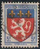 France 1943 Yv. N°572 - Lyonnais - Oblitéré - 1941-66 Armoiries Et Blasons