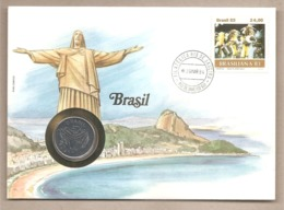 Brasile - Busta Commemorativa Con Moneta Da 50 Cruzeiros - 1984 - Brasile