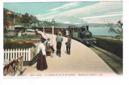 CPA. Jersey. Saint-Aubin. Le Chemin De Fer De La Corbière.Train .   (M.254). - Jersey