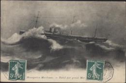 Poste Maritime CAD Marseille à La Réunion LV N°4 6 Oct 09 CPA Messageries Maritimes Natal Par Grosse Mer - Marcophilie (Lettres)