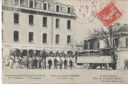CPA GIRONDE BORDEAUX 37 ème RI  Train Système Purrey Visite Aux Ateliers Départ Dans La Cour De La  Caserne Boudet 1907 - Bordeaux