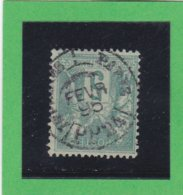 SAGE N° 75 TYPE IIB   - CACHET A DATE  PARIS IMPRIMES  PP 24 - FEV. 1896- REF 1602 - 1876-1898 Sage (Type II)