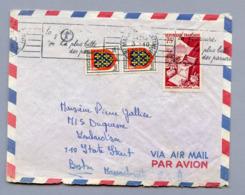 PAIRE BLASON N°999 MAINE EN COMPLEMENT AFFRANCHISSEMENT à 76Frs S/LETTRE Avion USA 3/10/55 - 1941-66 Wapenschilden