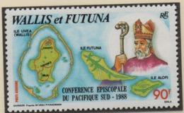 AB4 Wallis Et Futuna** 1988 Pa163  Conférence épiscopale - Luftpost