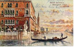VENEZIA - Bauer Grünwald, Grand Hotel D'Italie, 4.8.1913 - Venezia (Venice)