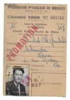 SCHNEIDER WERNER 6 RUE ROSSAN LYON DEDERATION FRANCAISE BOULES FAMILIALE GARIBALDI PETANQUE 1960 CARTE - Bocce